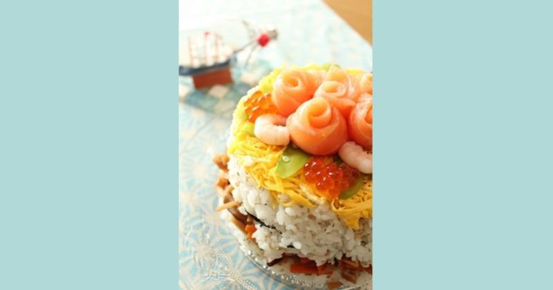 七夕☆ちらし寿司ケーキ