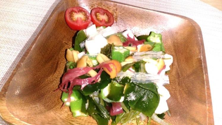 ☆ネバネバ野菜と海藻のサラダ☆
